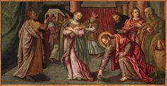 Artes Antichità - Galleria d'arte a Genova   Cristo e l'adultera