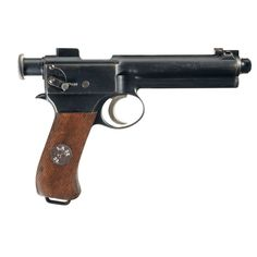 The Roth-Steyr M1907, or, more accurately Roth-Krnka M.7 was a semi-automatic pistol issued to the Austro-Hungarian Kaiserliche und Koenigliche Armee cavalry during World War I. It was the first adoption of semi-automatic service pistol by a land army of major power. Cal. 8, 8 Steyr. !0 rounds internal mag.