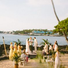 Waterfront ceremony | Redfield Photography