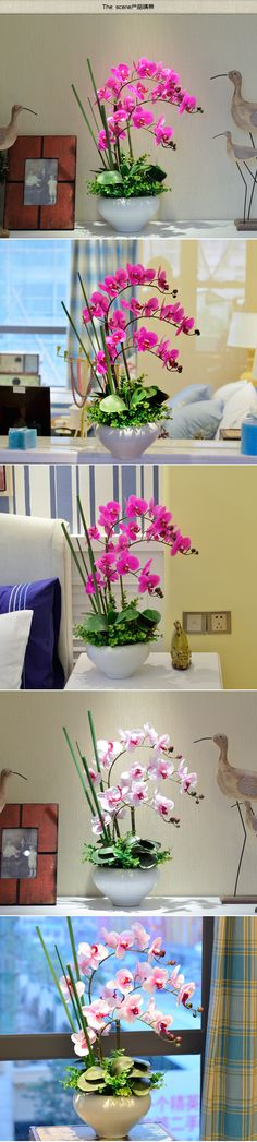 100 22 h x 16.5 wPU real touch flower pots planters artificial flowers Orchid arrangements decorative in pots fashion mk watch Floral with vase-inDecorative Flowers & Wreaths from Home & Garden on Aliexpress.com | Alibaba Group Orchid Arrangements, Mk Watch, Artificial Flowers, Alibaba Group, Sd, Flower Pots, Orchids, Glass Vase, Planter Pots