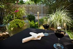 Matteo's patio is a great place for those warm summer night meals