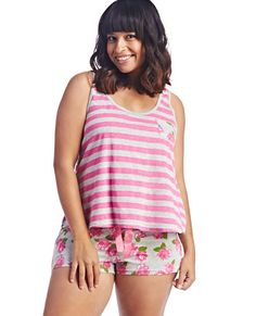 plus size pajama sleep set in flannel and jersey | love this