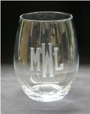 Engraved Personalized Stemless Wine Glass ($14.95)