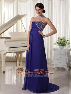 Purple Empire Chiffon Brush Train Custom Made Evening Party Dress With Beading Decorated Sweetheart- $138.48  www.fashionos.com   flowing dancing dress | prom dress online dress store | dress for campus party plus size | wholesale prom dress for cheap | discount prom dress online | low price homecoming dress for sale | evening dress spring collection | sweetheart prom dress with brush train | buy prom party dresses online | evening dresses on sale |