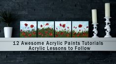 Step-by-step video and full demonstrative acrylic painting tutorials to create your own acrylic paintings from scratch. Learn acrylic painting like a pro!