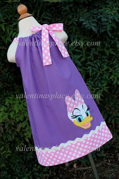 New and Unique Daisy Duck pillowcase dress or halter style dress