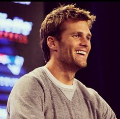 Brady smile!  Enough said...
