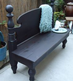 Repurposed Old Headboard-Bench