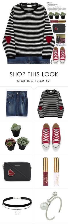 """""""think happy thoughts"""" by exco ❤ liked on Polyvore featuring Converse, Alaïa, MICHAEL Michael Kors, clean, organized and rosegal"""