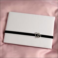 Guest Book - Two Hearts - White