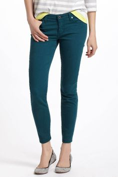 turquoise skinny jeans / ag jeans... this color is fabulous