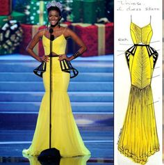 FAB Fashion: Miss Universe Leila Lopes Wears in Bespoke Korto Momolu