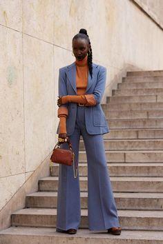 Look Street Style, Spring Street Style, Street Style Women, Paris Street Fashion, Seoul Fashion, Fashion Week Paris, Kleidung Design, Fashion Outfits, Womens Fashion