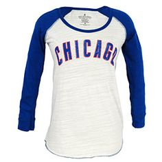 Get this Chicago Cubs Ladies Multi Count Baseball Long Sleeve T-Shirt at WrigleyvilleSports.com