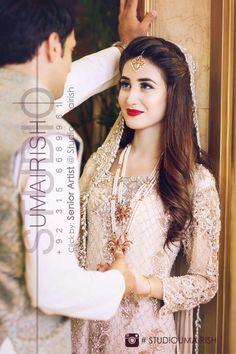 New Style Hair 2018 Hairlook 21 Ideas Pakistani Bridal Hairstyles, Pakistani Bridal Dresses, Indian Hairstyles, Bride Hairstyles, Eid Dresses, Bridal Lehenga, Nikkah Dress, Hairdos, Fashion Dresses
