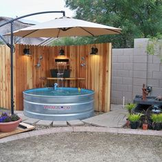 Backyard Stock tank pool by @astrollthrulife