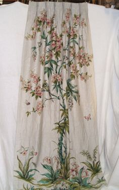 Bird and Blossom Curtain (x4)