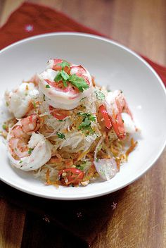 Thai Chilled prawn and glass noodle salad - a cool summer dish