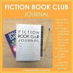 Fiction Book Club Journal by Cyr's Gears Reading Resources, Reading Activities, Literacy Activities, Teaching Reading, Teaching Ideas, Teaching Materials, Comprehension Strategies, Reading Strategies, Reading Skills