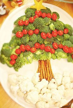 Veggie Christmas Tree Idea