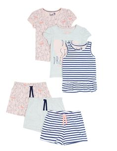 3 Pack Pure Cotton Stay Soft Assorted Short Pyjamas (1-8 Years)