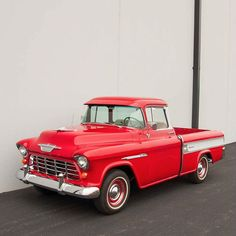 1955 Chevrolet Cameo Carrier Deluxe  - Recent restoration - One of 5,220 models made in 1955, price when new $1,980 - Commercial Red exterior with Bombay Ivory accents and red-and-whit...