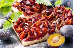 The classic German plum cake topped with streusel on a bed of fluffy yeast dough, Zwetschgenkuchen is German baking at its best! German Plum Cake, Plum Tart, German Baking, Hot Butter, Gateaux Cake, Shortcrust Pastry, Streusel Topping, Cake Toppings, Cake Recipes