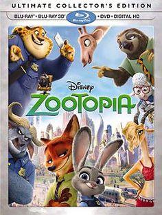 Zootopia Blu-ray + DVD + Digital HD + 3D