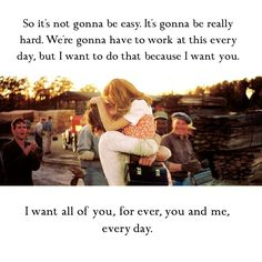 Noah and Allie, made this for my favourite quote from the Notebook. ❤️ #love #thenotebook #noahandallie #quote #youandme #forever
