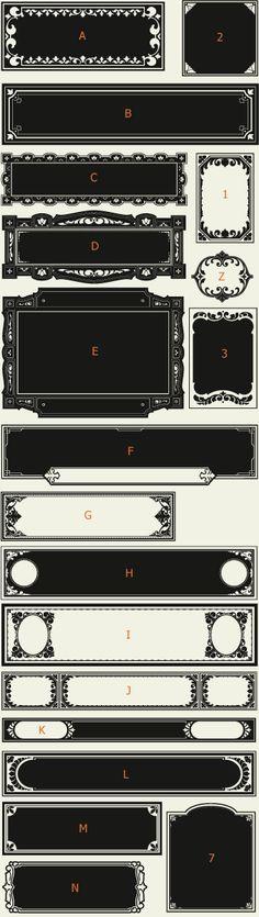 Letterhead Fonts / LHF Saratoga Panels 2/ Ribbons and Panels