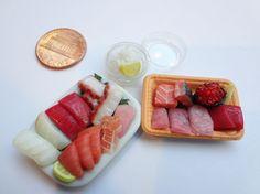 Miniature Sashimi by WaterGleam  Handmade from Polymer clay