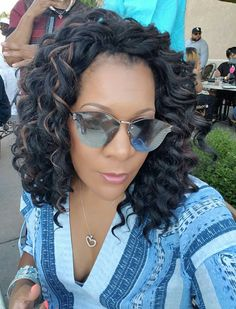 Ripple Deep with 30 highlights - Crochet Braid Styles Crochet Braids Hairstyles Curls, Curly Crochet Hair Styles, Crochet Braid Styles, Curled Hairstyles, Weave Hairstyles, Crotchet Styles, Wedding Hairstyles, Cute Everyday Hairstyles, Natural Hair Styles