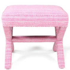 pink x-stool with pattern