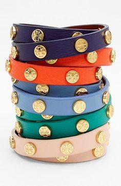 leather wrap bracelets | tory burch
