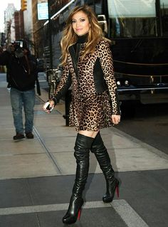 My girl JLo rocking some hot boots!