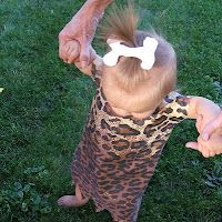 Homemaker in Heels: 46 DIY Halloween Costumes for Kids. I made this for my daughter, and added a necklace made out of pumpkin seeds to be dinosaur teeth.  You can get great fake fur at fabricland!