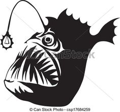 angler fish clipart - Google Search