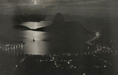Rio de Janiero at night, September 1920.  Photograph by Carlos Bippus, National Geographic
