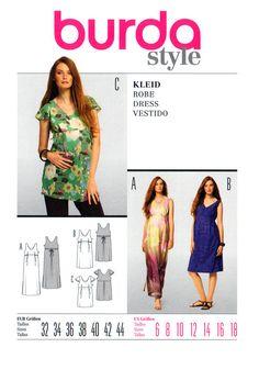 158e7643dd626 2010 Burda 7527 Maternity Wear: Semi-Fitted by patternscentral Tunic, Summer  Dresses,