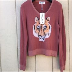 WILDFOX SZ SMALL TIGER BBJ SWEATER NEW New Wildfox Sweaters