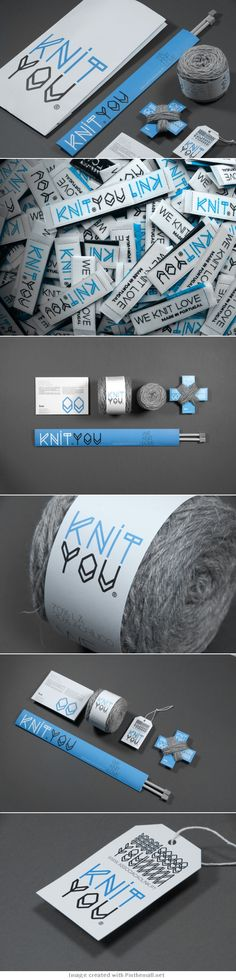 Knit You for all our knitters out there and there are a lot #identity #packaging #branding PD