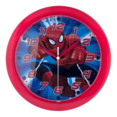 Marvel Spider-Man Wall Clock, Red