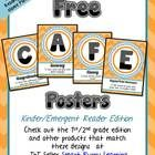 Super cute Chevron CAFE posters!  They have matching Reading Strategy cards that save a ton of time too!