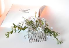 Ivory and White Floral Comb £20.00