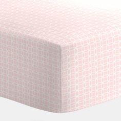 Pink Circles Crib Sheet 250x250 image