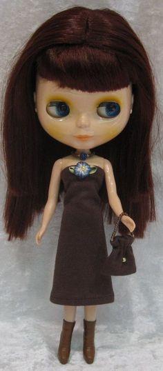 BLYTHE Doll Clothes #22 Handmade Dress, Beaded Necklace & Purse Set #HandmadebyESCHdesigns
