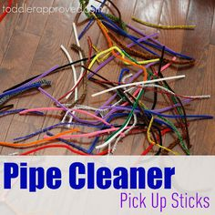 Toddler Approved!: Pipe Cleaner Pick Up Sticks