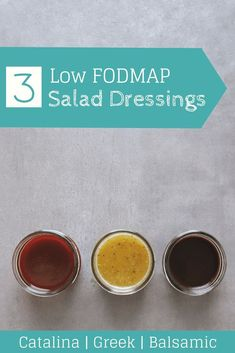 Looking for a quick and easy way to dress up your salad? Try one of these low FODMAP salad dressings! Low FODMAP Lunch I Dieta Fodmap, Fodmap Diet, Low Fodmap, Fodmap Foods, Fodmap Recipes, Diet Recipes, Healthy Recipes, Recipes For Ibs, Diet Meals