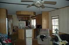 Becky's mobile home makeover - before