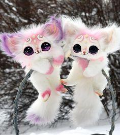 Valentine's Kittens by GakmanCreatures on Etsy